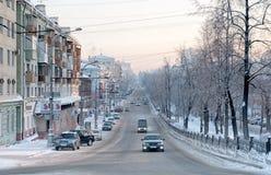 perm Uralgebied Rusland Komsomolvooruitzicht stock afbeelding