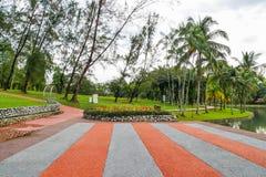 Permaisuri湖庭院是一个著名公园在Cheras 图库摄影