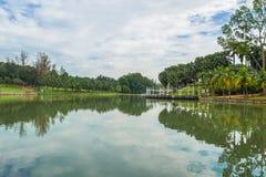 Permaisuri湖庭院是一个著名公园在Cheras 库存照片