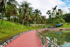 Permaisuri湖庭院是一个著名公园在Cheras 免版税图库摄影