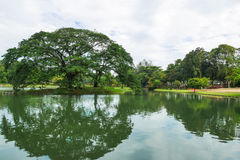 Permaisuri Lake Garden is one of the famous park in Cheras. There is a pathway for people to jogging and exercise. It also known as Taman Tasik Permaisuri royalty free stock photography
