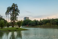 Permaisuri Lake Garden is one of the famous park in Cheras, there is a pathway for people to jogging and exercise and it just. Along the lake. It also known as stock photo