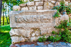 Permanece del rustica romano del chalet que fecha a partir de siglo IV Imagen de archivo libre de regalías