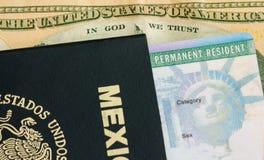 Permanent Ansässiger - Green Card Lizenzfreie Stockbilder