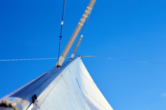 Permanent backstay is attached to the top of the mast. Royalty Free Stock Photos