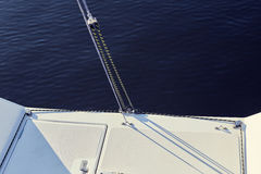 Permanent backstay is attached to the top of the mast. Royalty Free Stock Photo