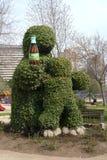 Permanent Coke Ad. A permanent coke ad, built in a topiary, in Parque Araucano, a park in Santiago, Chile Stock Image