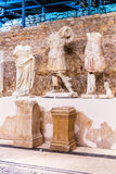 Permanent exhibition in museum that was built on site of ancient Roman temple in ancient town Narona Royalty Free Stock Photo