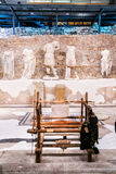 Permanent exhibition in museum that was built on site of ancient Roman temple in ancient town Stock Photography