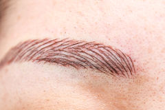 Permanent eyebrow tattoo Stock Photos