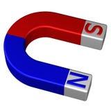 Permanent magnet för hästsko framförande 3d royaltyfri illustrationer