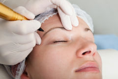 Permanent makeup Stock Photo