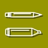 Permanent markör- och bollpunktpenna Fotografering för Bildbyråer
