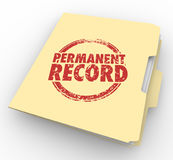 Permanent Record File Folder Criminal Background Check 3d Illustration vector illustration