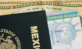 Permanent Resident - Green Card royalty free stock images