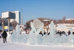 Permanent, Rusland - Januari 28 2017: Labyrint` Edelweiss ` Royalty-vrije Stock Foto