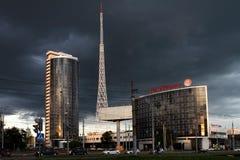Permanent, Rusland 24 juni, 2016: In de stad van Permanent was gebouwde Russ Royalty-vrije Stock Afbeeldingen