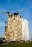 Permanent, Rusland - September 26 2016: Bouw van nieuwe huizen Stock Foto's