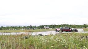 PERMANENT RYSSLAND - JULI 22, 2017: Sportbil på Open Ural mästerskapdriva 2017 stock video