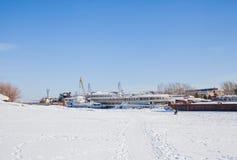Permanent Ryssland-mars 11 2017: Sänder och rusar på skeppsvarven Fotografering för Bildbyråer