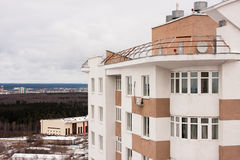 Permanent Ryssland-Oktober 31,2015: staden av permanenten, en nybygge Royaltyfri Bild