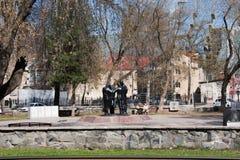 Permanente, Rússia - 30 de abril 2016: Monumento - quebrado fora da fraternidade Fotografia de Stock Royalty Free