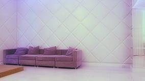 PERMANENTE, RÚSSIA - 12 DE FEVEREIRO DE 2017: Interior vazio de Salão branco - banquet o salão para casamentos e eventos no perma video estoque
