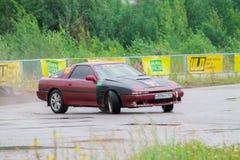 PERMANENTE, RÚSSIA - 22 DE JULHO DE 2017: Carro de derivação na trilha Foto de Stock Royalty Free