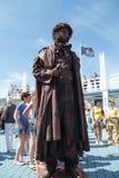 PERMANENTE, RÚSSIA - 15 DE JUNHO DE 2013: Escultura viva Pushkin Fotografia de Stock