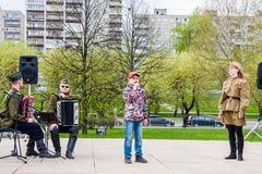 Permanente, Rússia - 9 de maio 2016: Concerto na esplanada Imagem de Stock Royalty Free