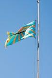 PERMANENTE, RÚSSIA, O 4 DE JULHO 2015: Bandeira de levantamento da aviação Foto de Stock