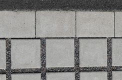 Permeable concrete paving Royalty Free Stock Images