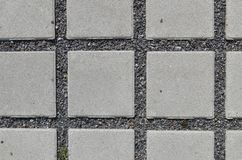Permeable concrete paving Stock Photography
