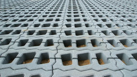 Permeable Pavers (Lawn grid). Of reinforced concrete structures Royalty Free Stock Photo