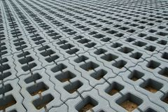 Permeable Pavers (Lawn grid) Royalty Free Stock Photos
