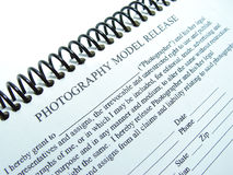Permission. Photographic model release Stock Images