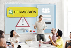 Permission Accessible Authorization Security System Concept Stock Photos