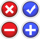 Permission buttons set, vector illustration Royalty Free Stock Image
