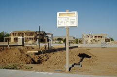 Permit sign. Building permit sign in a residential home construction site Stock Images