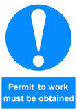 Permit to work sign. Permit to work health and safety sign Royalty Free Stock Images