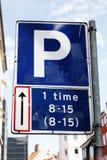 Permited som parkerar en timme endast Arkivfoto