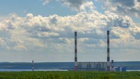 Permskaya Thermische Elektrische centrale Timelapse stock video