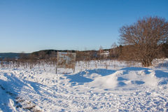 Permsky krai, Suksu区,俄罗斯-行军08 2017年:冬天风景 免版税库存照片