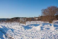 Permsky-krai, Suksu-Bezirk, Russland - 8. März 2017: Winter-Landschaft Lizenzfreies Stockfoto