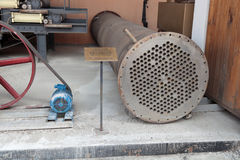 Permutador de calor tubular foto de stock