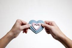 permuter le coeur Photographie stock