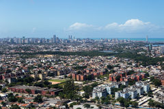 Pernambuco -巴西的鸟瞰图 免版税图库摄影