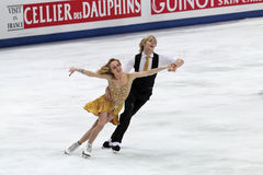 Pernelle Carron and Lloyd Jones French ice dancers Royalty Free Stock Photography
