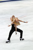 Pernelle Carron and Lloyd Jones French ice dancers Royalty Free Stock Photos