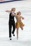 Pernelle Carron and Lloyd Jones French ice dancers Stock Photos